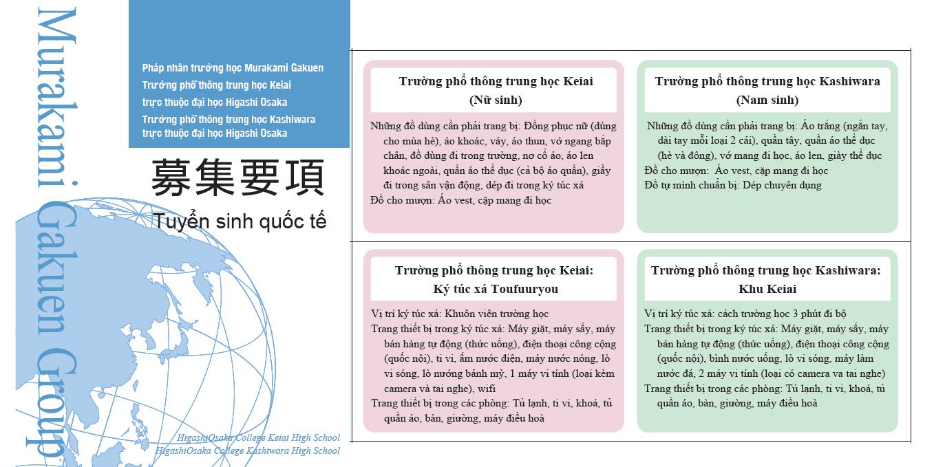 Trường THPT Osaka - thuộc tập đoàn giáo dục Murakami